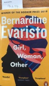 The cover of Bernardine Evaristo's novel, Girl, Woman, Other.