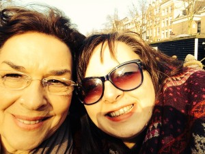 A selfie of Lucy and her Mum in the sunshine