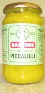 A jar of Bartons Original Piccalilli