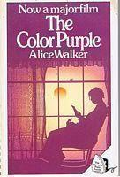 """The cover of a 1988 paperback edition of The Color Purple published by the Women's Press, with a heading """"Now a major film"""""""